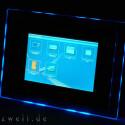 Im Dunkeln besonders effektvoll: die blaue Effekbeleuchtung kann auf Wunsch zugeschaltet werden.