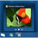 Wird die Maus auf den Taskleisten-Eintrag des WMP 12 bewegt, läuft in einem Vorschaubild das Video in Echtzeit.