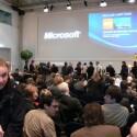 Pressekonferenz auf der CeBIT 2008