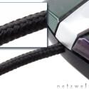 Flexibles Kabel mit geflochtener Textur, aber nur 1,60 Meter lang