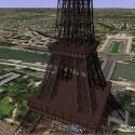 Der Eiffelturm als 3D-Animation