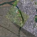 Satellitenbilder-Patchwork in Japans Metropole