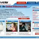 Die Startseite von Save.TV