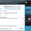 Das Formular für Microsoft-Berichte wurde als Widget in die Sidebar integriert.