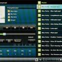 Musikwiedergabe: Falls vorhanden, blendet der Player auch Album-Cover ein.
