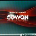 Das Menü des Cowon-Players lässt sich individualisieren. Links und rechts am Rand befinden sich die Haupt-Navigationspunkte.