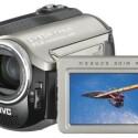 Dieser Festplattencamcorder kann mit SD-Speicherkarten erweitert werden. Sein 1/3,9-Zoll-CCD-Sensor verfügt im Videomodus über effektiv 1,23 Megapixel.