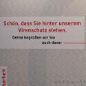 Werbung am Avira-Stand.