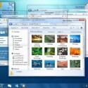 Windows 7 in all seiner Pracht mit Transparenzen und neuer Taskleiste.