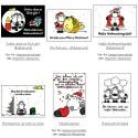 E-Cards mit den bekannten schwarz-weißen Schafen.