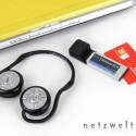 Ausflug in die Aufpreisliste: interner Bluetooth-Adapter mit schnurlosen Kopfhörern für 65,45 Euro, HSDPA-Karte für Vodafone für 236,81 Euro