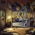 Cedrics Schlafbereich. Der kleine Clown träumt eines Nachts von seinem Schicksal.