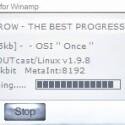 Während der Streamripper arbeitet, sehen Sie stets das aktuelle Lied sowie die Dateimenge, die bislang gerippt wurde.
