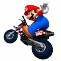 Mario auf Motorrad