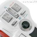 Zwei Auslöser, eine Zoomwippe, die Menütasten und der Multicontroler.
