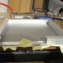 Die Aluschiene wurde erst im eingebauten Zustand zurecht geschnitten.
