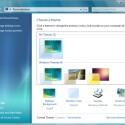 Im runderneuerten Systemsteuerungs-Menü <i>Personalization</i> können sie Hintergrundbild, Farbe des Fensterrands und Sounds angeben.