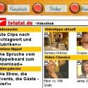 Ausschnitte aus TV-Total gibt es in der TV Total Videothek. Dort finden Internetnutzer Clips aus der letzten Sendungen und Klassiker aus dem Archiv.