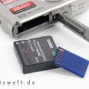 Lithium-Ionen-Akku und SD-Karte sorgen für Strom und Speicherkapazität.