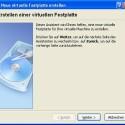 VirtualBox ist in der Lage, den Festplattenspeicher je nach Bedarf wachsen zu lassen.