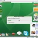 Während die Live-Umgebung noch aktiv ist, startet die Formatierung und das Anlegen des Betriebssystem auf der Festplatte.