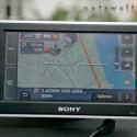 Navigationsansicht: Das Display des Sony-Navis überzeugt durch schiere Größe...
