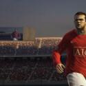 Wayne Rooney auf der Playstation drei.