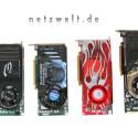 Nvidias GeForce 8800 GTX und GTS setzen auf eine 384- respektive 320-Bit-Schnittstelle und 768 beziehungsweise 640 Megabyte RAM, allerdings sind auch preiswertere GTS-Karten mit nur 320 Megabyte erhältlich, von denen wir ebenfalls ein Exemplar in unsere Testläufe einbeziehen.