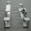 Fast alle Halterungen wurden aus einer Dreikant-Aluschiene gefertigt.