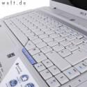 Blick auf die Tastatur.