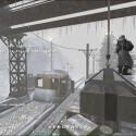 Auf der Map Railgun, muss ein großes Geschütz gesprengt werden. Alternativ kann auch die Gegenseite gewinnen, wenn sie es schafft, das Geschütz mit Munition zu beladen, die mit dem kleinen Zug auf dem Screenshot befördert wird. Spannung ist hier vorprogrammiert.