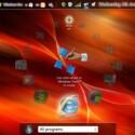 Dieser Screenshot deutet eine Touchscreen- oder Stylus-Bedienung des kreisrunden Menüs an.