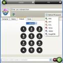 Auf Wunsch können Sie zum Wählen ein virtuelles Nummernpad benutzen.