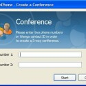 WengoPhone unterstützt Konferenzschaltungen für bis zu drei Personen.