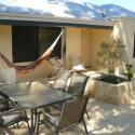 Zum Haus in Perth an der Westküste Australiens gehört ein kleines Außengelände.