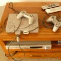 Die Playstation ist nicht das neueste Modell. Aber zum spielen reicht es.