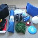 Ausrüstung für spontane Campingausflüge ist vorhanden.