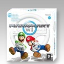Spiel und Wii Wheel in einer Verpackung.