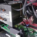 Blick auf den Intel Core 2 Duo E6700 und das passiv gekühlte Mainboard
