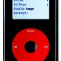 Einzige Ausnahme bisher. Der einzige große iPod, der nicht schwarz ist: Der iPod U2.