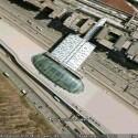 Beim Bahnhof des Frankfurter Flughafens...