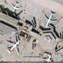 Der Frankfurter Flughafen ist vollkommen scharf.