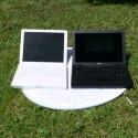 iBook links, Macbook rechts.