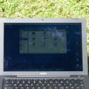 Das Macbook-Display bleibt selbst bei direkter Sonneneinstrahlung lesbar.