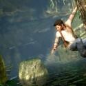 Über tiefe Schluchten und reißende Flüsse muss sich Nathan Drake in manchen Szenen hangeln. (Bild: Sony)