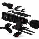Eine Kamera nach dem Baukastenprinzip. Durch die Bauteile sind viele verschiedene Kameratypen möglich.