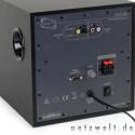 Alleinstellungsmerkmal: Gleich zwei digitale Anschlüsse (koaxial und optisch) warten auf der Rückseite auf Nullen und Einsen.