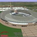Auch das Olympiastadion ist begehbar, allerdings ist stat der Laufbahn unter dem Dach das Dach selbst zu sehen