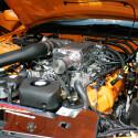 Viel Kraft und Chrom unter der Haube des amerikanischen Muscle-Cars