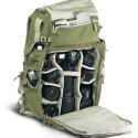 Der mit 66 Zentimentern sehr hohe Rucksack ist mit einem ergonomischen, an die Größe des Trägers anpassungsfähigen Tragesystem ausgestattet, das auch verstaut werden kann.